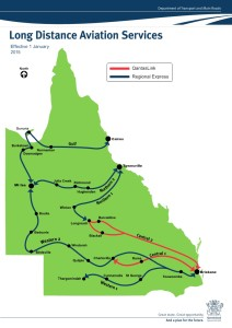 Qld Long Distance Air Services Map
